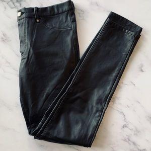H&M Pants - H&M Black 5 Pocket Zip Fly Faux Leather Pants 8